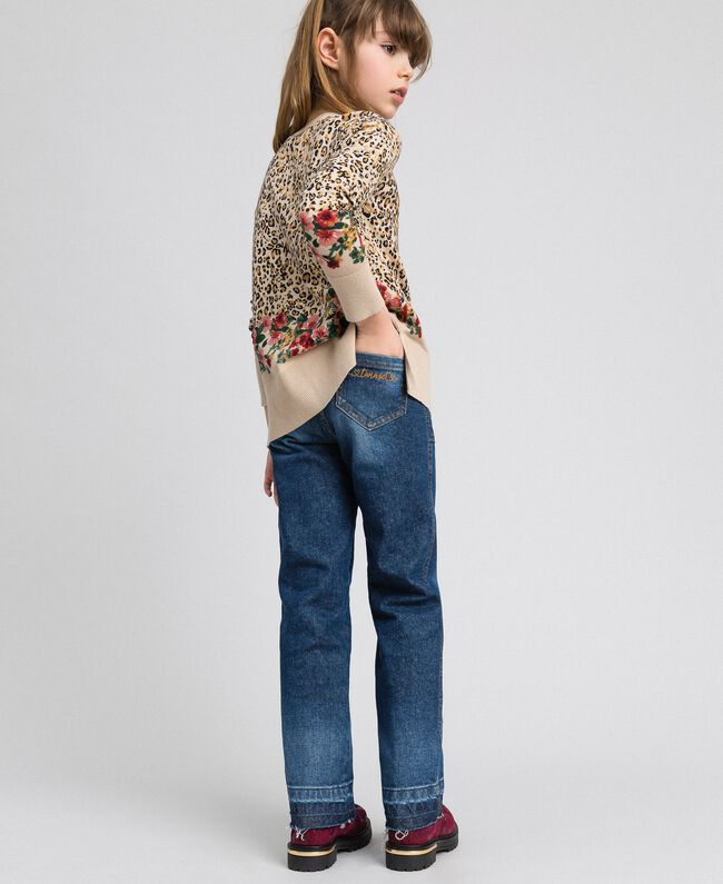 Jeans fatigue con tasche Denim Medio Bambina 192GJ2540-03