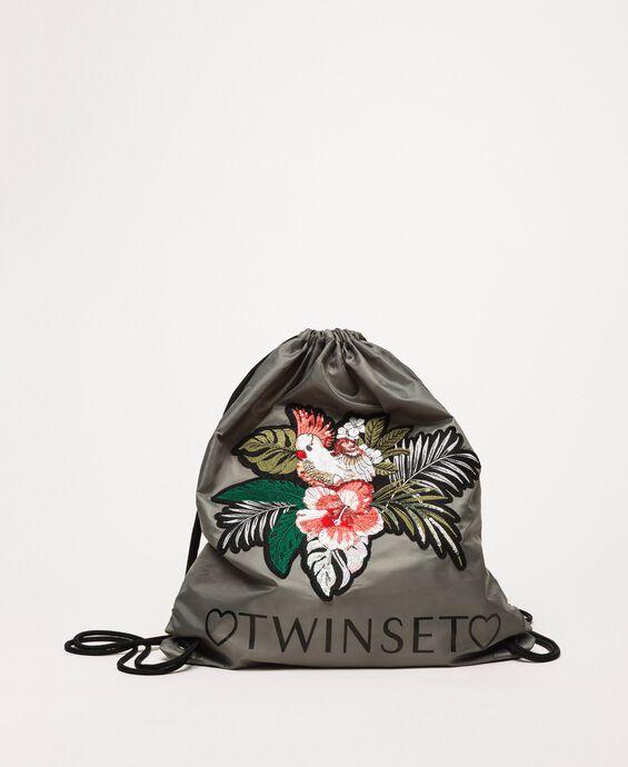 Sac à dos avec fleur appliquée