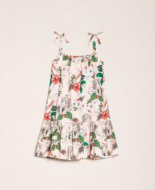 Robe en popeline imprimée Imprimé Rose «Savane» Enfant 201GB2333-0S