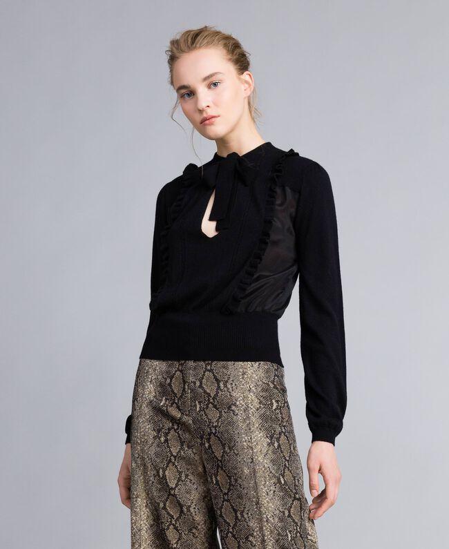 Pull en laine et cachemire Noir Femme PA83AN-04