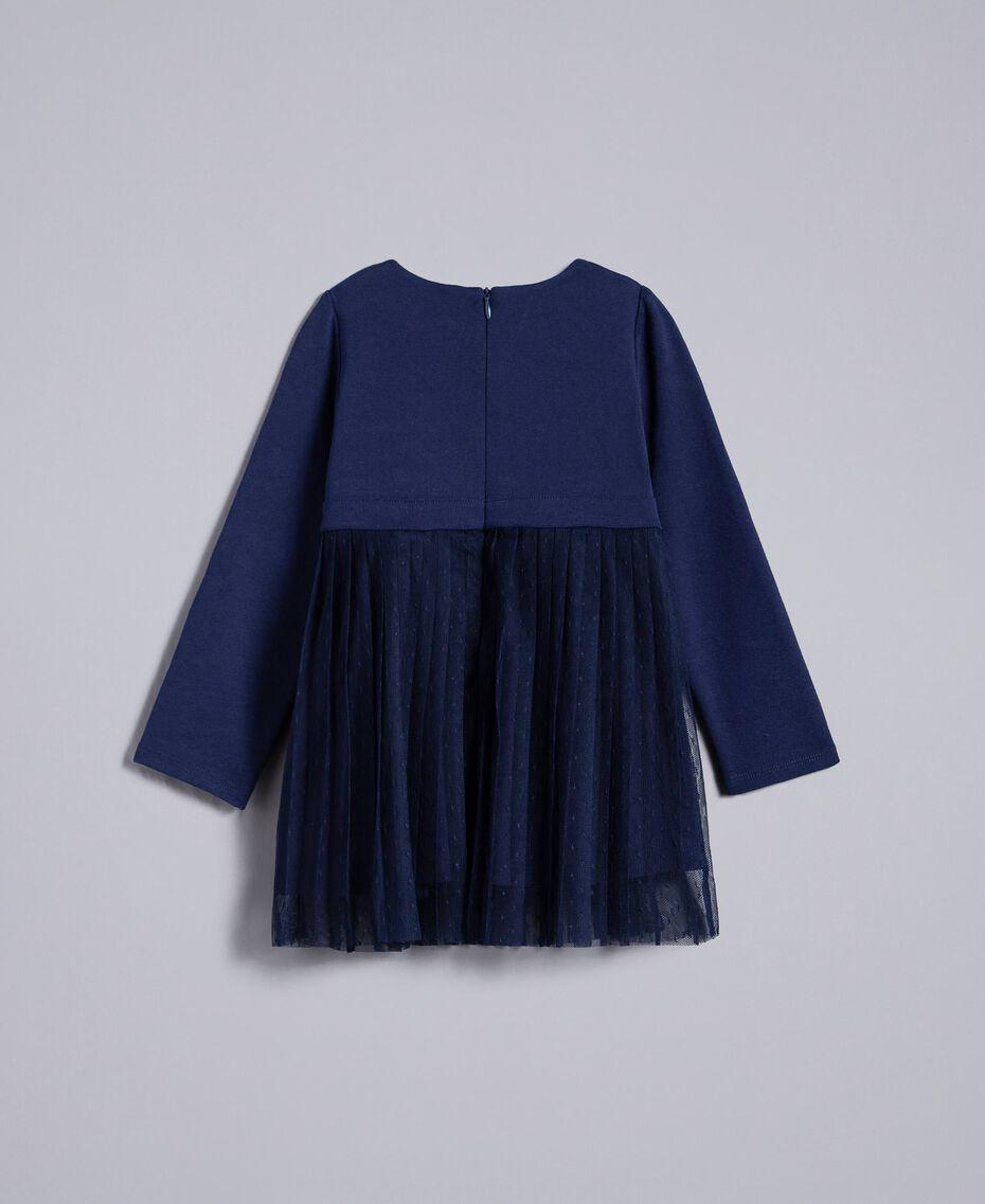 Robe en tulle plumetis Bleu Blackout Enfant FA82QN-0S