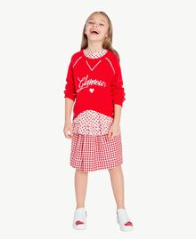 Jupe Vichy Jacquard Vichy / Rouge Grenadier Enfant GS82ZF-06