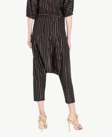 Jacquard trousers Black Jacquard / Gold Stripes Woman TS82VB-03