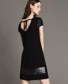 Kleid mit Pailletten Schwarz Frau 191LB22NN-01