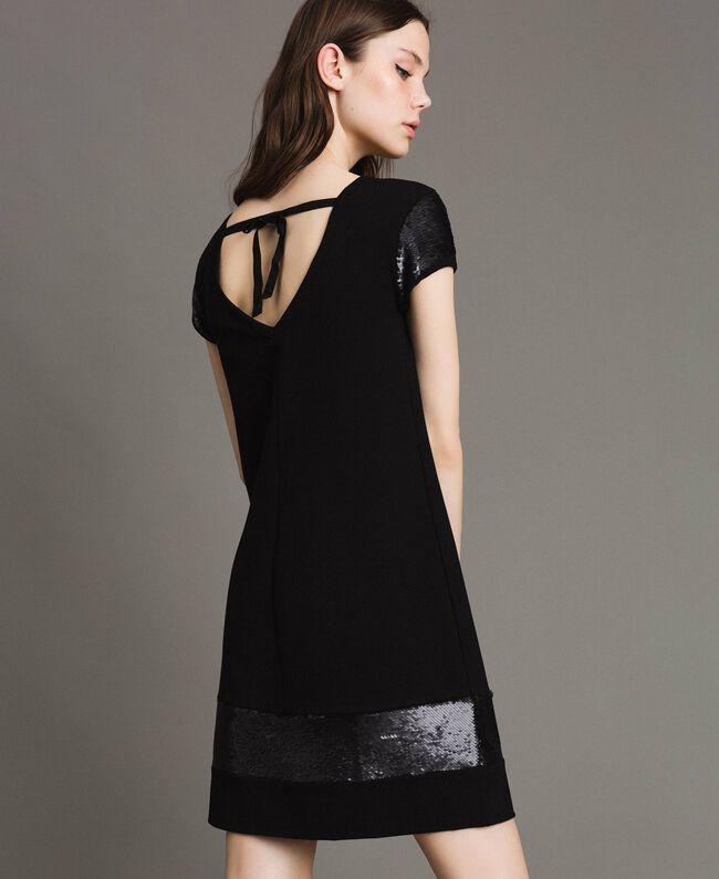 Robe avec sequins Noir Femme 191LB22NN-01