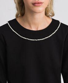 Blouse avec broderie de perles Noir Femme 192TP2080-04