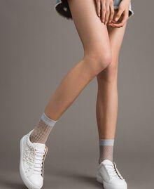 Lurex fishnet socks Ice Woman 191TA4348-0S