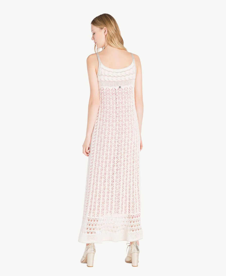 Long openwork dress Pale Ecru Woman PS836D-03