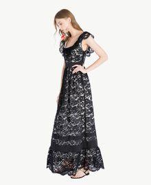 Langes Kleid aus Spitze Schwarz Frau TS828N-02