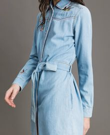 Denim shirt dress Light Denim Woman 191TP2534-03