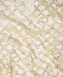 Jacquard kefiah with chain print Parchment White Woman 202TO5109-02
