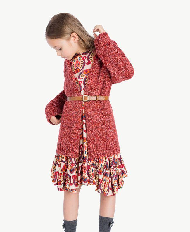 "Kleid mit Print ""Folk Cream""-Print GA7243-06"