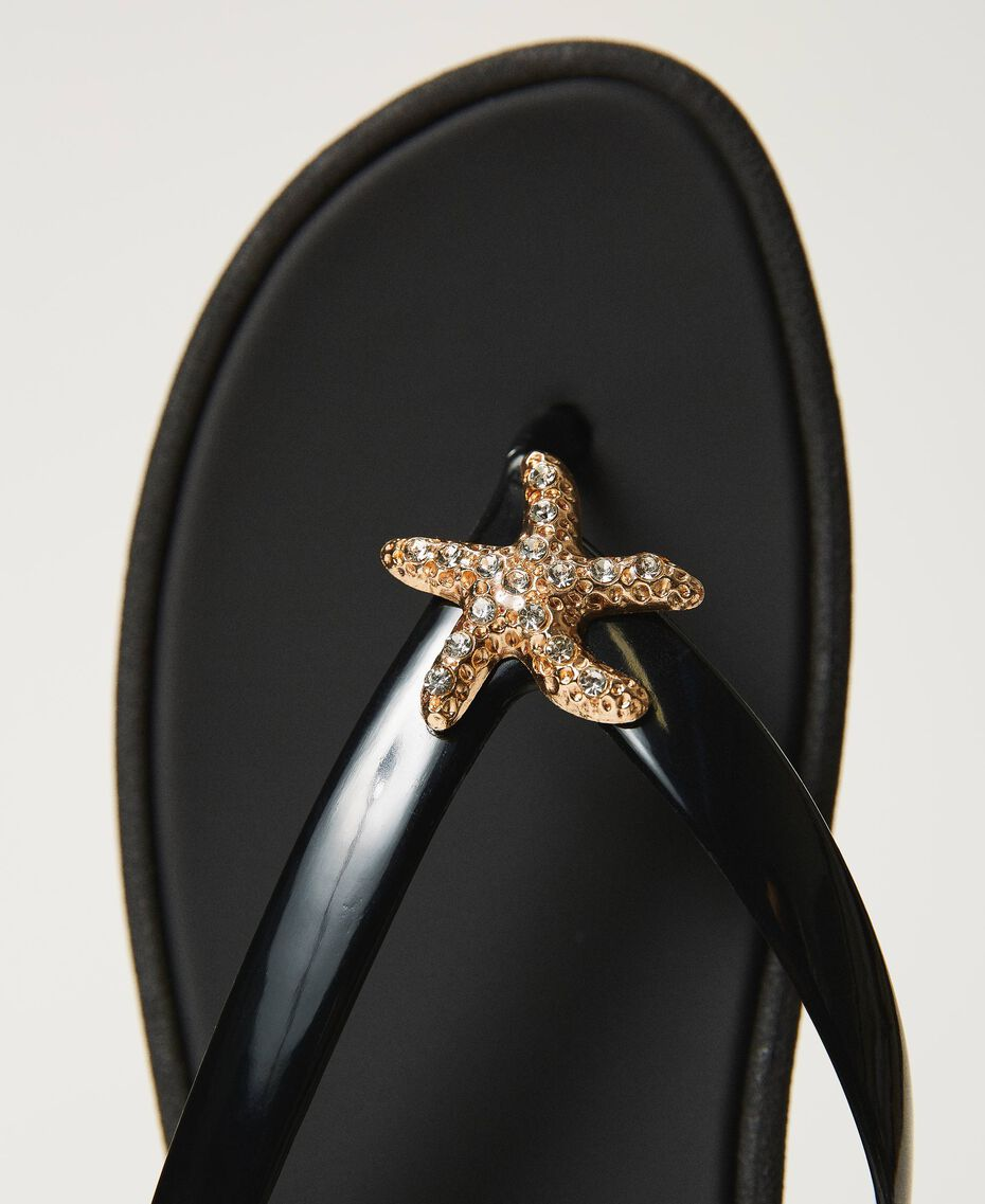"""Thong sandals with jewel detail """"Sky"""" Blue Woman 211LMPZPP-03"""