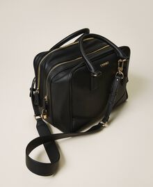 Bowler bag with dual compartment Black Woman 202TB7030-01