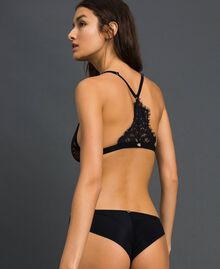 "Triangle bra with lace ""Cherry Coke"" Fuchsia Woman 192LI6122-03"