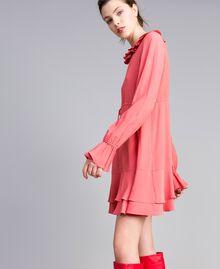 Kurzes Kleid aus Seidenmischung Royal Pink Rosa Frau PA827A-02