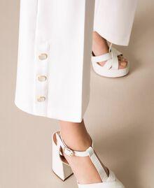 Pantalon avec volants et perles Ivoire Femme 201TP2103-05