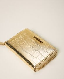 Crocodile print wallet Pale Gold Croc Print Woman 202TD8258-01