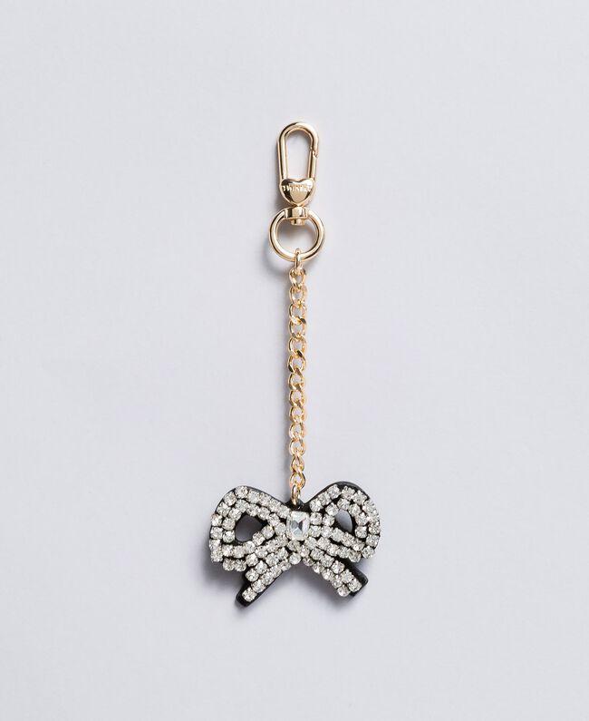 Portachiavi in metallo con strass Argento Crystal Donna AA8PMG-01