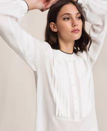 Crêpe de Chine shirt Ivory Woman 201TP2392-02
