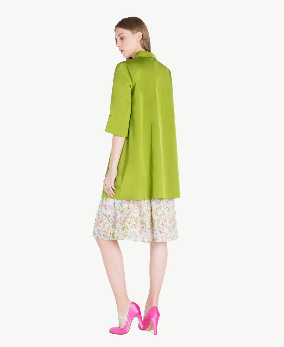 """Technical fabric duster coat """"Lime"""" Green Woman PS82J1-03"""