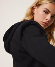 Sweat avec logo brodé assorti Noir Femme 202TT2T57-03