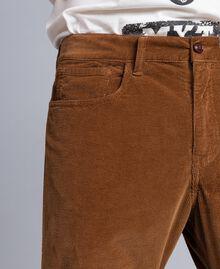 Hose aus Samt Toffee Beige Mann UA82CA-04