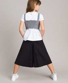 T-shirt en jersey avec top en vichy Bicolore Blanc Optique / Vichy Enfant 191GJ2730-03