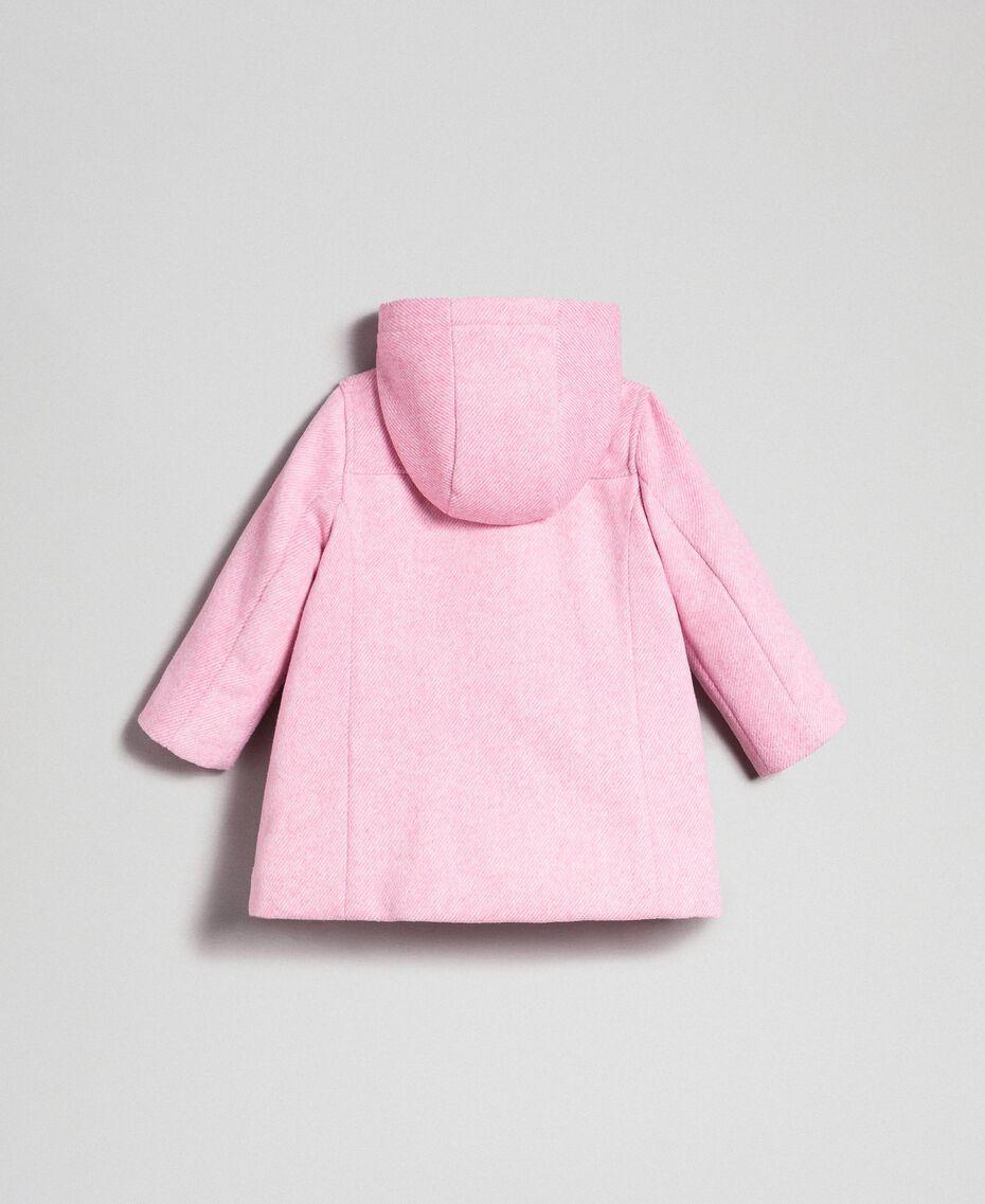Manteau en drap avec nœuds Jacquard Rose «Dragées» Enfant 192GB2100-0S