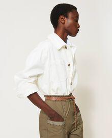 Blouson avec grandes poches Crème fouettée Femme 211TT2077-05