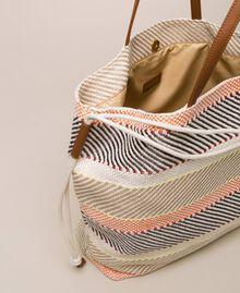 """Weaved fabric shopper Multicolour """"Milkyway"""" Beige Woman 201LM7ZJJ-05"""