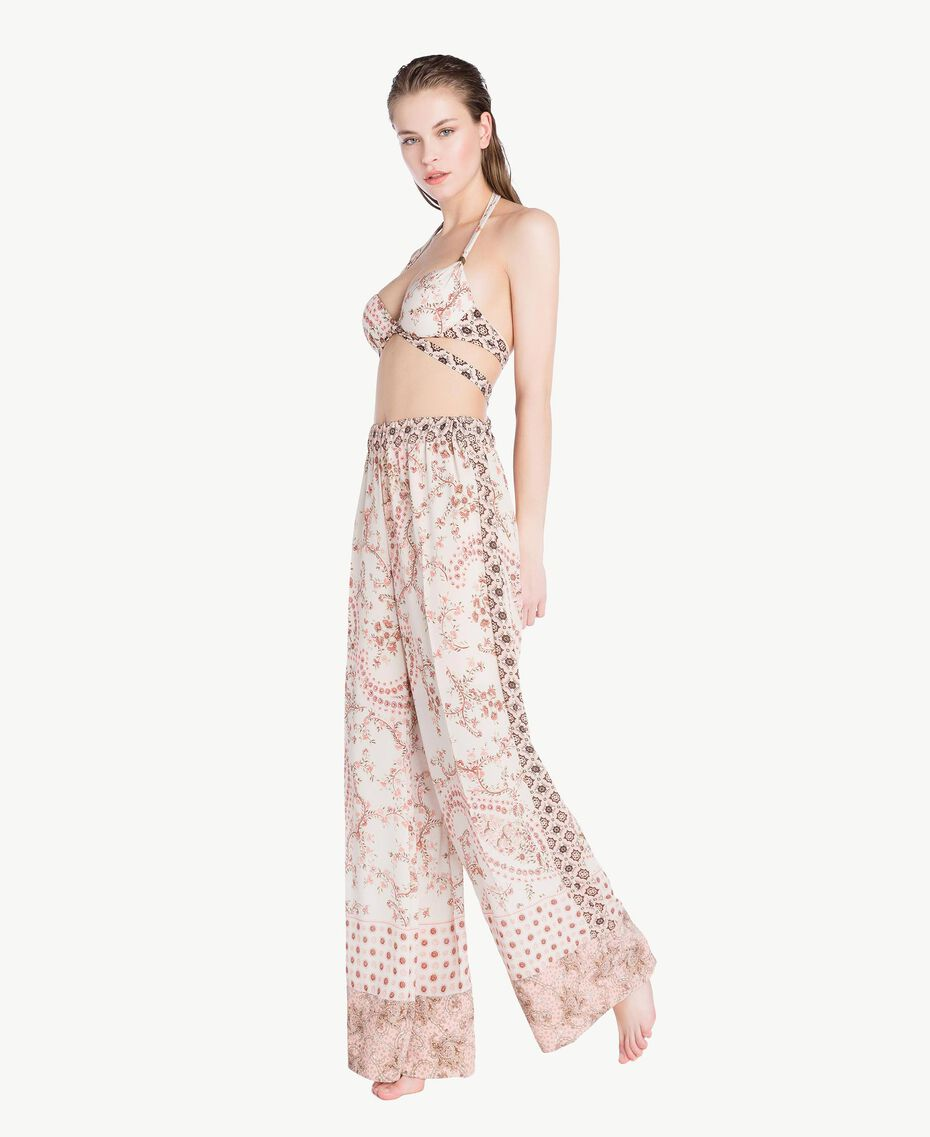 Printed trousers Vegas Pink Patch Print Woman BS8AHH-03