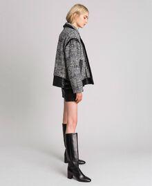 Perfecto en drap Prince de Galles Jacquard Neige / Noir Femme 192TT2100-02