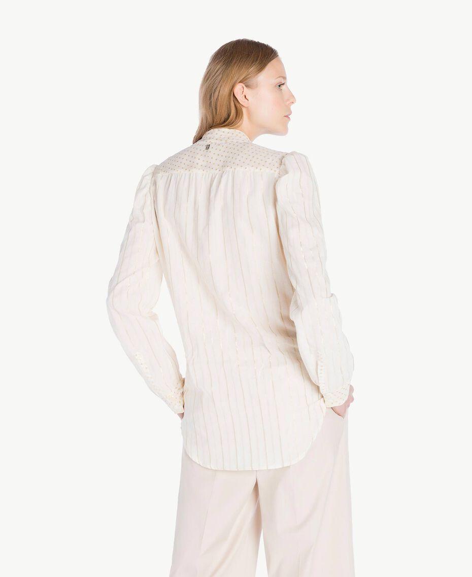 Hemd aus Jacquard Zweifarbig Meliertes Mittelgrau / Hellgold Frau TS8261-03