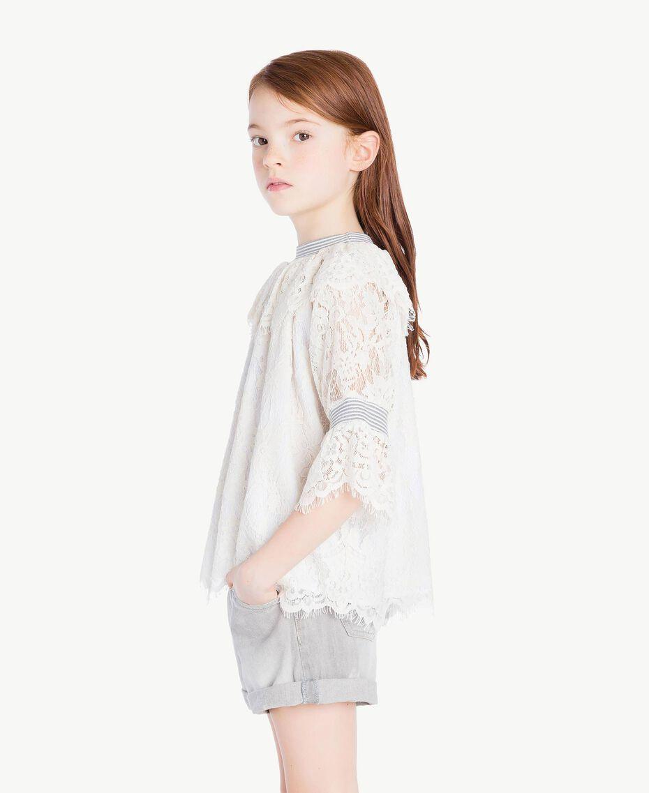 Lace blouse Pale Cream Child GS82UR-03