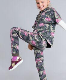 Sweat en coton stretch imprimé Imprimé Camouflage / Paillettes Enfant GA82N1-04