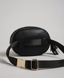 Поясная сумка из искусственной кожи с заклепками и кисточкой Черный женщина 192MO8015-03