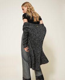 Tweed knit maxi cardigan Magenta Pink Woman 202LI3PFF-03