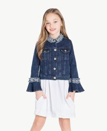 "Embroidered jacket ""Mid Denim"" Blue Child GS82W2-02"