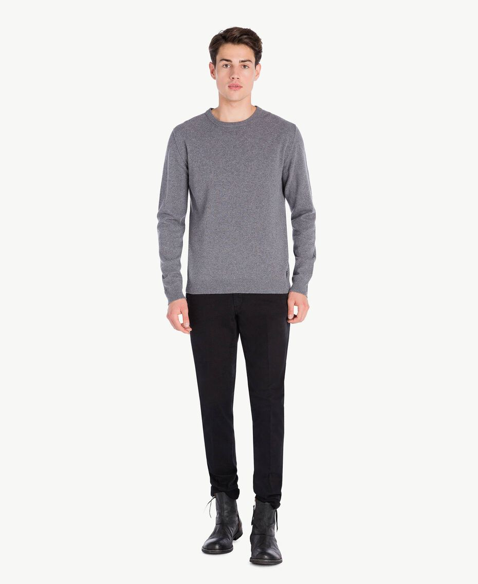 Cashmere top Dark Gray Mélange Male UA73CA-02