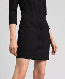 Sheath dress with covered buttons Black Woman 192MP2179-04