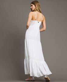 Robe longue avec broderie anglaise Blanc Femme 191LB2EAA-03