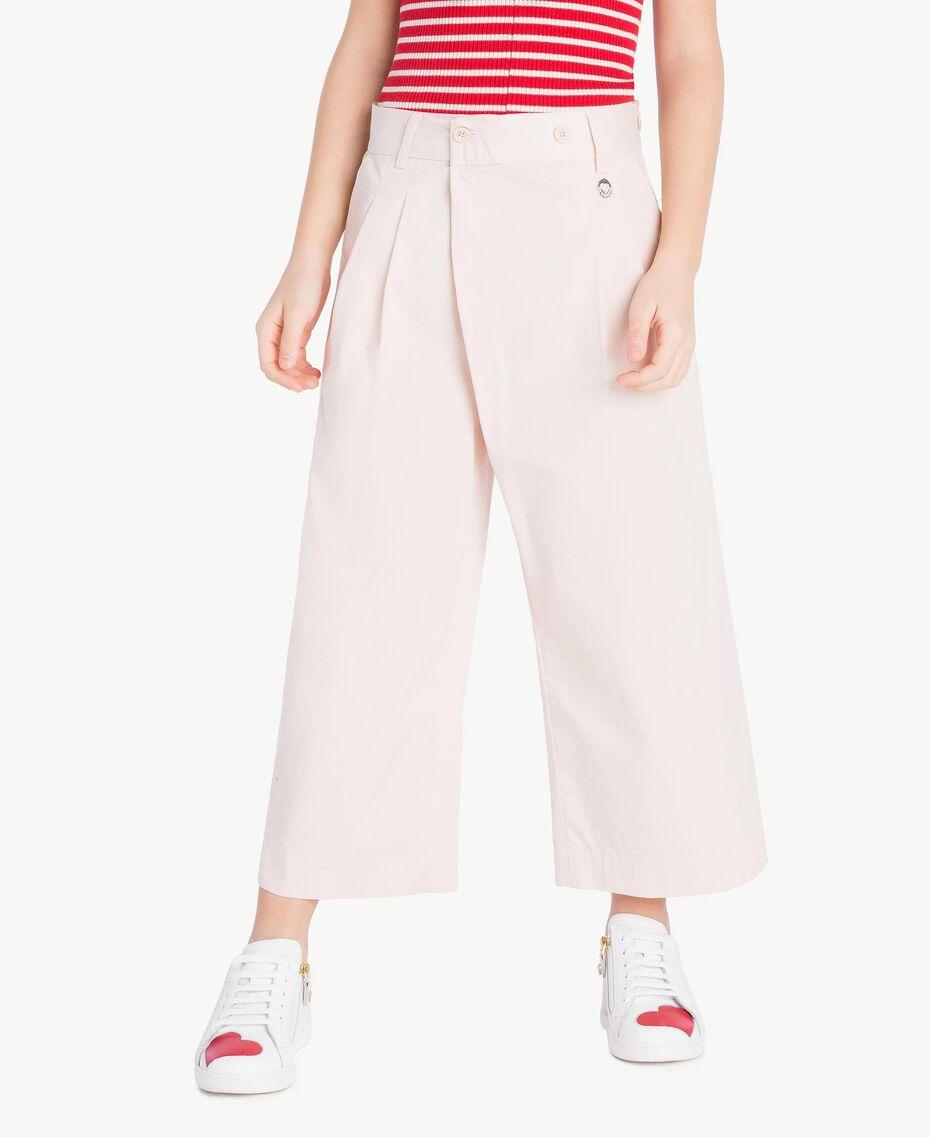 Poplin trousers Bud Pink Child GS82QQ-02
