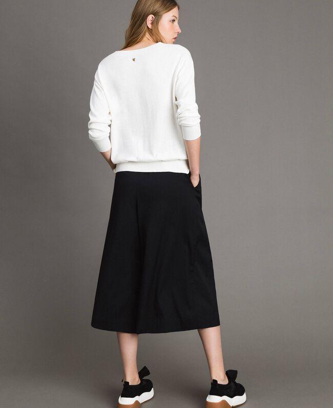 Pullover mit Lurex-Intarsie White Sahne Frau 191MP3190-03