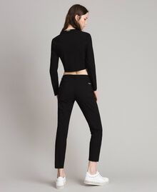 Giacca cropped in cotone Nero Donna 191LB22EE-03