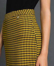 Gonna longuette in pied-de-poule Pied De Poule Giallo / Nero Donna 192MT2053-04