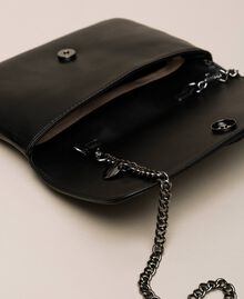 Faux leather pochette with decorative buckle Black Woman 201MO8121-05