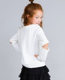 Sweat matelassé avec strass Off White Enfant GA82NN-03