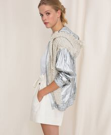 Shorts aus Leinenmischung Weiß Schnee Frau 201TP2255-02