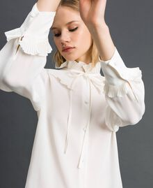 Crêpe de Chine silk blend shirt White Snow Woman 192TP2100-04